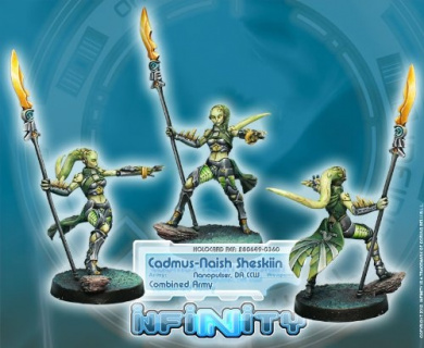 Infinity: Combined Army - Agent Cadmus-Naish Sheskiin