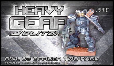 Heavy Gear Blitz: Black Talon - Owl C3 Officer Two Pack