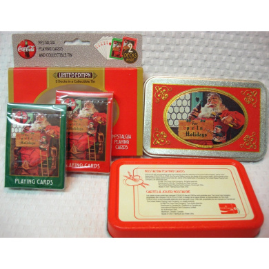 Limited Edition Coca-Cola Playing Cards in Collectible Tin Two Decks