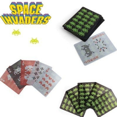Kikkerland Space Invaders Waterproof Poker Size Playing Cards