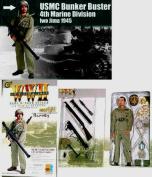 Barney WWII USMC Bunker Buster 4th Marine Division Bazookaman Iwo Jima 1945