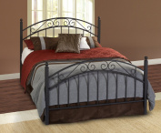 Hillsdale Furniture 224HTWR Willow Headboard with Rails, Twin, Textured Black