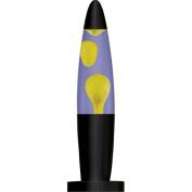 Motion Lamp - 33cm , Yellow Wax, Blue Liquid