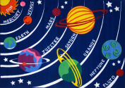 Roule Fun Time Collection Solar System 48cm X 70cm Kids Area Rugs