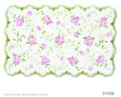 Sweet Rose Green / Pink Kids Rug