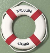 """""""Welcome Aboard"""" Life Ring - Wall Hanging"""