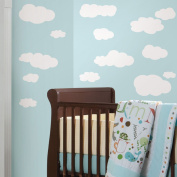 Clouds White Background Peel and Stick Wall Decals