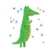 Wallies 13538 Crocodile Growth Chart Peel and Stick Wall Play