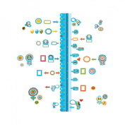 Wallies 13541 Dry Erase Sticker Growth Chart Peel and Stick Wall Play