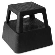 Genuine Joe 02428, Structural Plastic Step Stool, 36cm .x36cm .x33cm ., Black