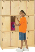 Jonti-Craft STACKING LOCKABLE LOCKERS - TRIPLE STACK MINIMAL ASSEMBLY REQUIRED 3 Per Box