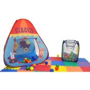 Clearance Animal Circus EZ Twist Play Tent House