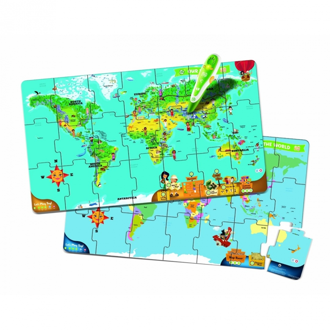 Leapfrog leapreader interactive world map puzzle works with tag leapfrog leapreader interactive world map puzzle works with tag by leapfrog shop online for toys in australia gumiabroncs Gallery