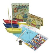 Three Boats In A Box Toy Model Kit