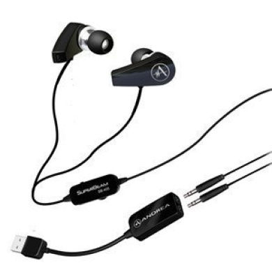SB-205 USB Earbuds with mics and NC