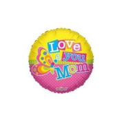 46cm I Love You Mom Butterfly Balloon
