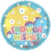 Single Source Party Supplies - 46cm Baby Wishes Umbrella Balloon Mylar Foil Balloon