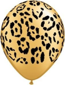 Single Source Party Supplies - 28cm Jungle Leopard Latex Balloons Bag of 10