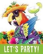 Caribbean Parrot Invitation - 8/Pkg.