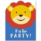 Safari/Alphabet Zoo Invitations Cards