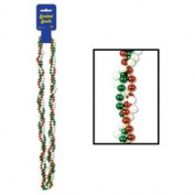 Braided Beads (red, white, green) Party Accessory  (1 count)