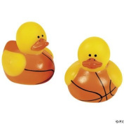 24-pc Mini Basketball Rubber Ducky Party Favours