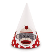 Party Destination Sock Monkey Red - Cone Hats
