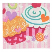 Unique Valentine's Day Cupcake Hearts - Beverage Napkins