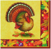 Unique Industries, Inc.-Thanksgiving Festive Turkey Napkins
