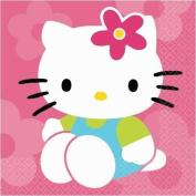 Hello Kitty Flower Fun Lunch Napkins 16ct