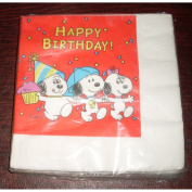 Rare OOP! Hallmark Peanuts Baby Snoopy, Baby Olaf, Baby Belle - Daisy Hill Puppies Napkins