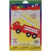Darice Crafts AC Foam Fire Truck Activity Kit