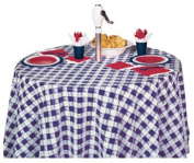 Creative Converting 82' Blu Rnd Tablecover 41189 Tablecover & Skirting Plastic