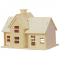Como Children 3D Wooden Country Station Model Puzzle Toy Construction Kit Gift
