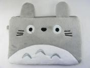 Totoro Plush Double Zipper Bag 19cm x13cm