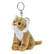 Wwf 15205018 Brown Tiger Plush Toy Key Ring 10 Cm