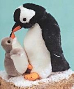Gentoo Penguin with Baby 27cm by Fiesta