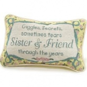 Manual Woodworkers & Weavers Inc. Sister and Friend Decorative Toss Pillow