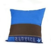 Nautica Kids Drew Brown and Blue 16 Square Toss Pillow 4240859