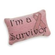 Manual Woodworkers & Weavers Inc. I'm A Survivor Decorative Toss Pillow