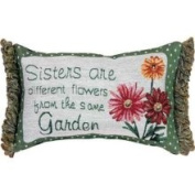 Manual Woodworkers Sisters from Same Garden Word Pillow
