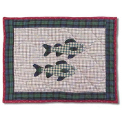BELLACOR CTPCABNFI Cabin Fish Crib Toss Pillow 40.6cm x 30.5cm