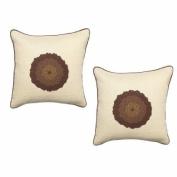 Surya LT5001-1818P Lotus 45.7cm . x 45.7cm . Poly-fibre Decorative Pillow - Ecru
