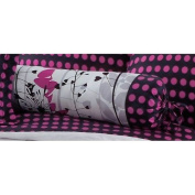 Hallmart Collectibles Harvest 40.6cm Wide Pink Polka Dots Bolster Pillow