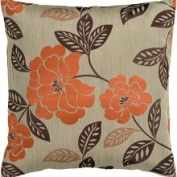 18' x 18' Facy Floral-Print Polyester Decorative Accent Pillow