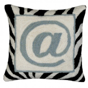 123 Creations @ Sign 100% Wool Hook Pillow