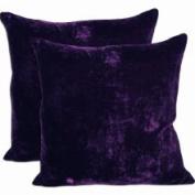 Cosy Quarters Inc Set of Two Square Purple Velvet Accent Throw Pillows (18' x 18') (Velvet Throw Pillow - Purple