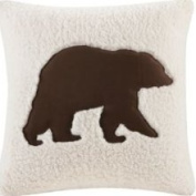 Woolrich Hadley Plaid Bedding Collection - Ivory 45.7cm Square Bear Pillo