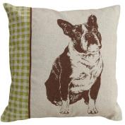 123 Creations CS002P-BR Screen print pillow - Boston Terrier