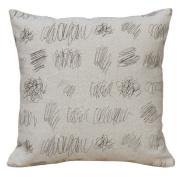 123 Creations Scribbles 100% Linen Screen Print Pillow